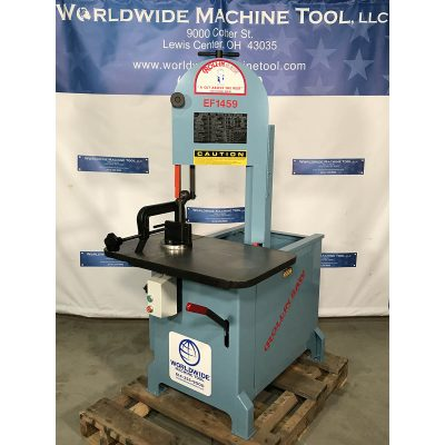 "14"" New Roll-In Vertical Band Saw for sale Model EF-1459 Gravity Feed at Worldwide Machine Tool"