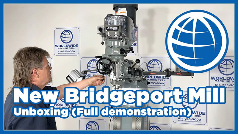 New Bridgeport Mill Video unboxing Full Demonstration