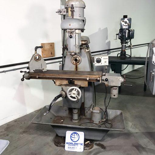 "3"" x 36"" Used U.S. Burke vertical horizontal mill for sale"