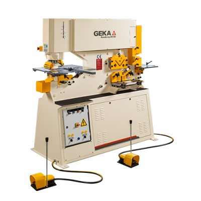 65 Ton New Geka Ironworker Dual Cylinder Model Bendicrop 60 S for sale