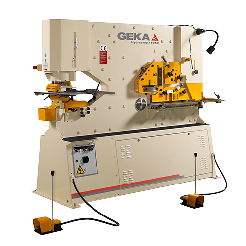 120 Ton New Geka Ironworker Dual Cylinder Model Hydracrop 110/180 SD for sale