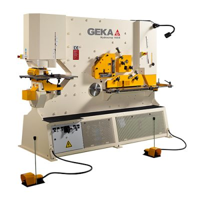 185 Ton New Geka Ironworker Dual Cylinder Model Hydracrop 165/300 S for sale