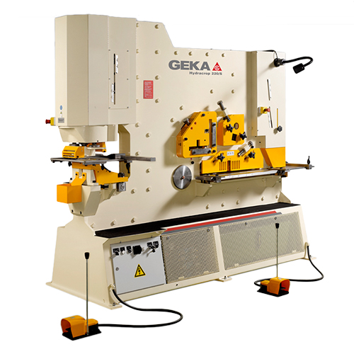 245 Ton New Geka Ironworker Dual Cylinder Model Hydracrop 220/300 S for sale