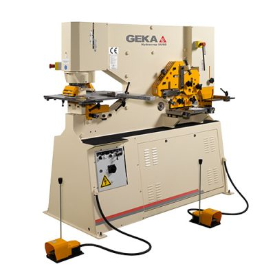 60 Ton New Geka Ironworker Dual Cylinder Model Hydracrop 55/110 SD