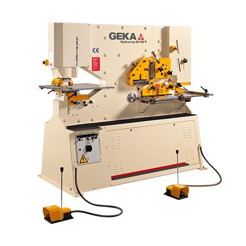 90 Ton New Geka Ironworker Dual Cylinder Model Hydracrop 80/150 SD for sale