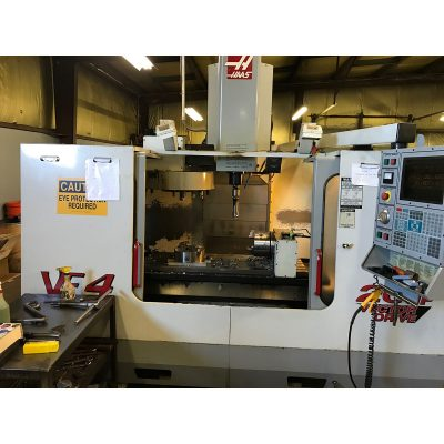 "52"" x 18"" Used Haas Vertical Machining Center Model VF-4 for sale at Worldwide Machine Tool"