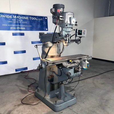 Used Bridgeport Vertical Mill with DRO for sale at Worldwide Machine Tool