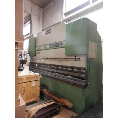 12' x 176 Ton Used Guilfil Press Brake Model HCT-CF Down acting for sale at Worldwide Machine