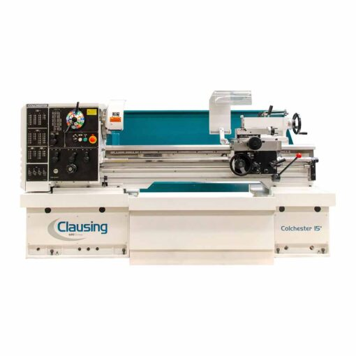 """15"""" x 25"""" New Clausing Colchester Lathe Geared Head"""