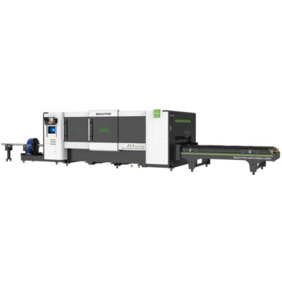 6,000 watt 5' x 10' fly pro fiber laser metal sheet and pipe cutter full enclosure with parallel shuttle