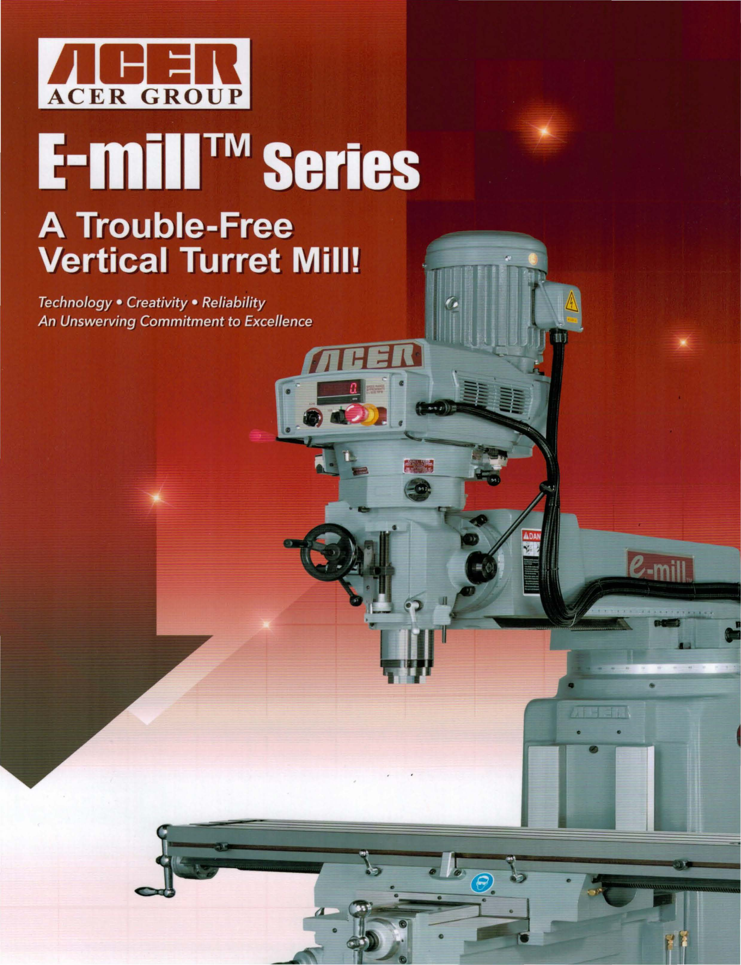 New Acer E Mill 3vs Vertical Milling Machine For Sale