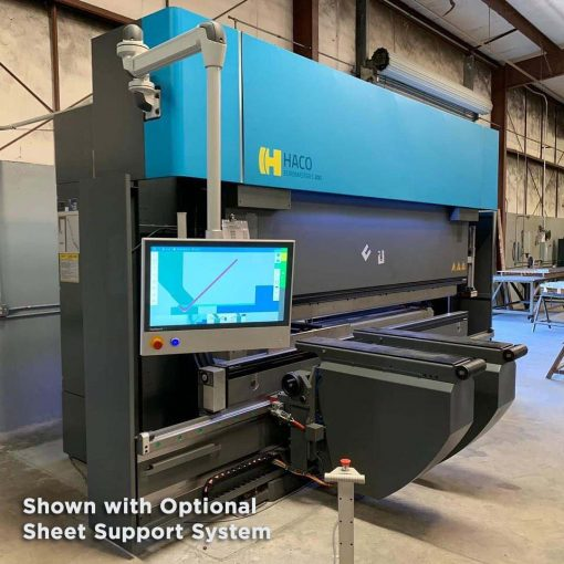 New Haco Press Brake Euromaster Series with optional table sheet system for sale at Worldwide Machine Tool