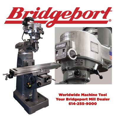 Bridgeport knee mill for sale at Worldwide Machine Tool